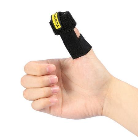 VGEBY Trigger Finger Splint Built-in Aluminium Support Adjustable Brace for Pain Relief - Comfortable Materials Heal Stenosing Tenosynovitis and Softens Injury Symptoms, Adjustable - Splint Material