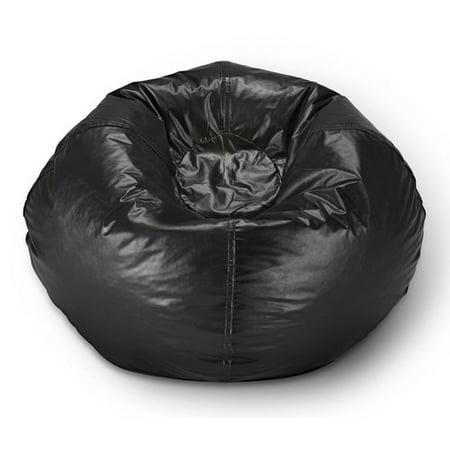 "X Rocker 98"" Round Vinyl Bean Bag, Black"