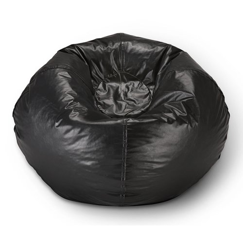 "X Rocker 98"" Round Vinyl Bean Bag, Black"