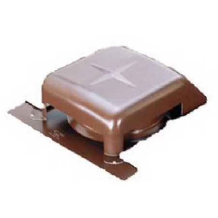RVG40080 8 in. Slant Galvanized Roof Vent - Brown Brown Roof Vent