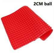 2cm Round Ball Barbecue Mat,Heat Resistant Up To 450 Degrees F,Safe To Use In Ovens, Microwaves, Refrigerators, Freezers and Dishwashers PURPLE