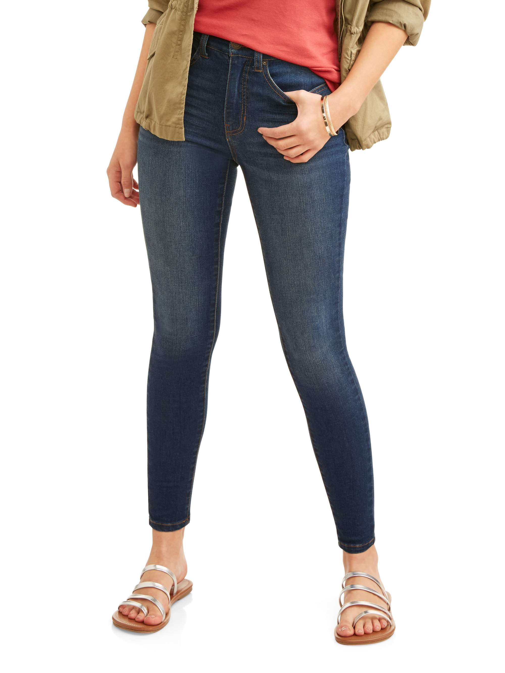 5915022a5dd Time and Tru - Time and Tru Women s Core High Rise Skinny Jean ...