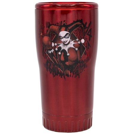 Harley Quinn Glasses (Harley Quinn Double Walled 20oz Stainless Steel)