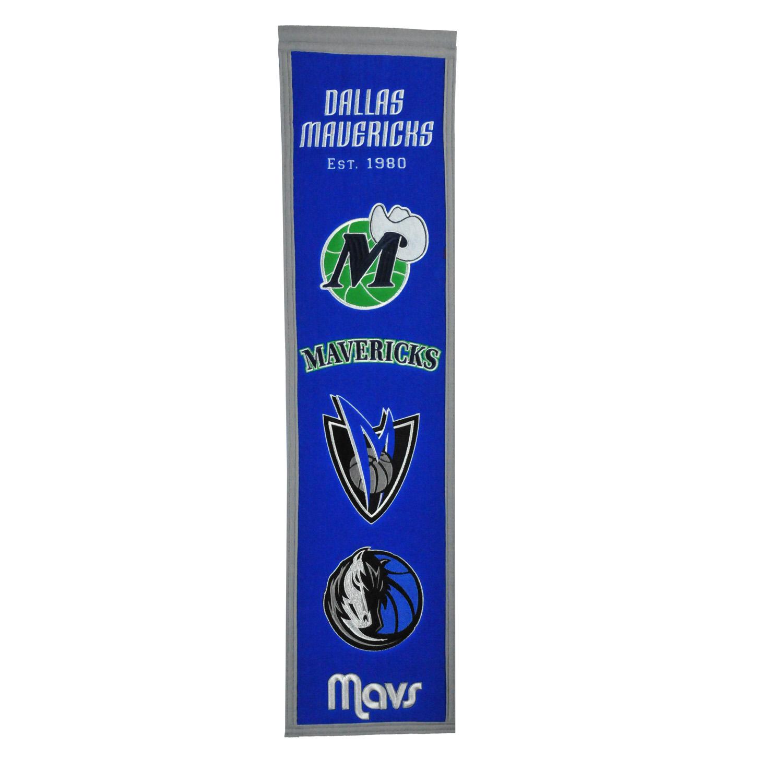 "Dallas Mavericks 8"" x 32"" Premium Heritage Banner - No Size"