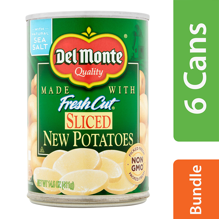 Del Monte Sliced New Potatoes, 14.5 Oz (6 Packs)