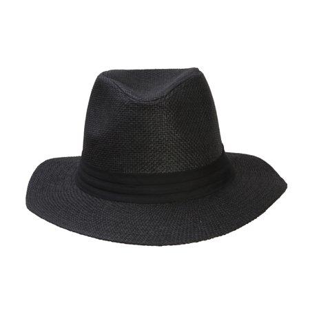 Fashion Style Banded Wide Brim Fedora Hat