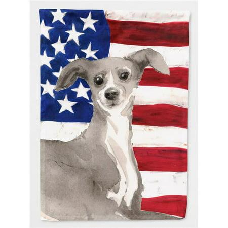 Carolines Treasures BB9387CHF Italian Greyhound Patriotic Flag Canvas House - image 1 de 1