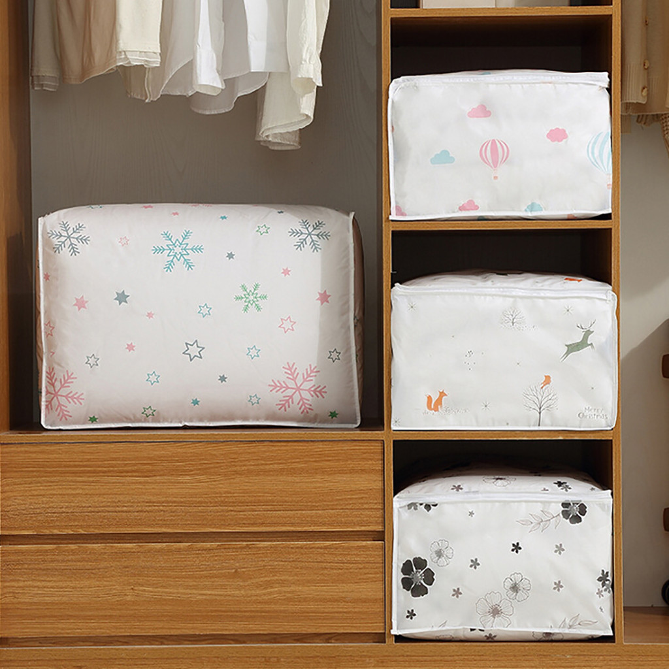Foldable Storage Bag Clothes Blanket Quilt Closet Sweater Organizer Pouches