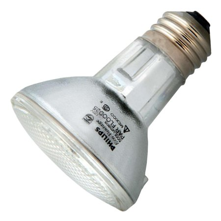 Philips 39w 120v PAR20 E26 FL25 2900K Halogen Light Bulb - Line Voltage Halogen Par20 Recessed