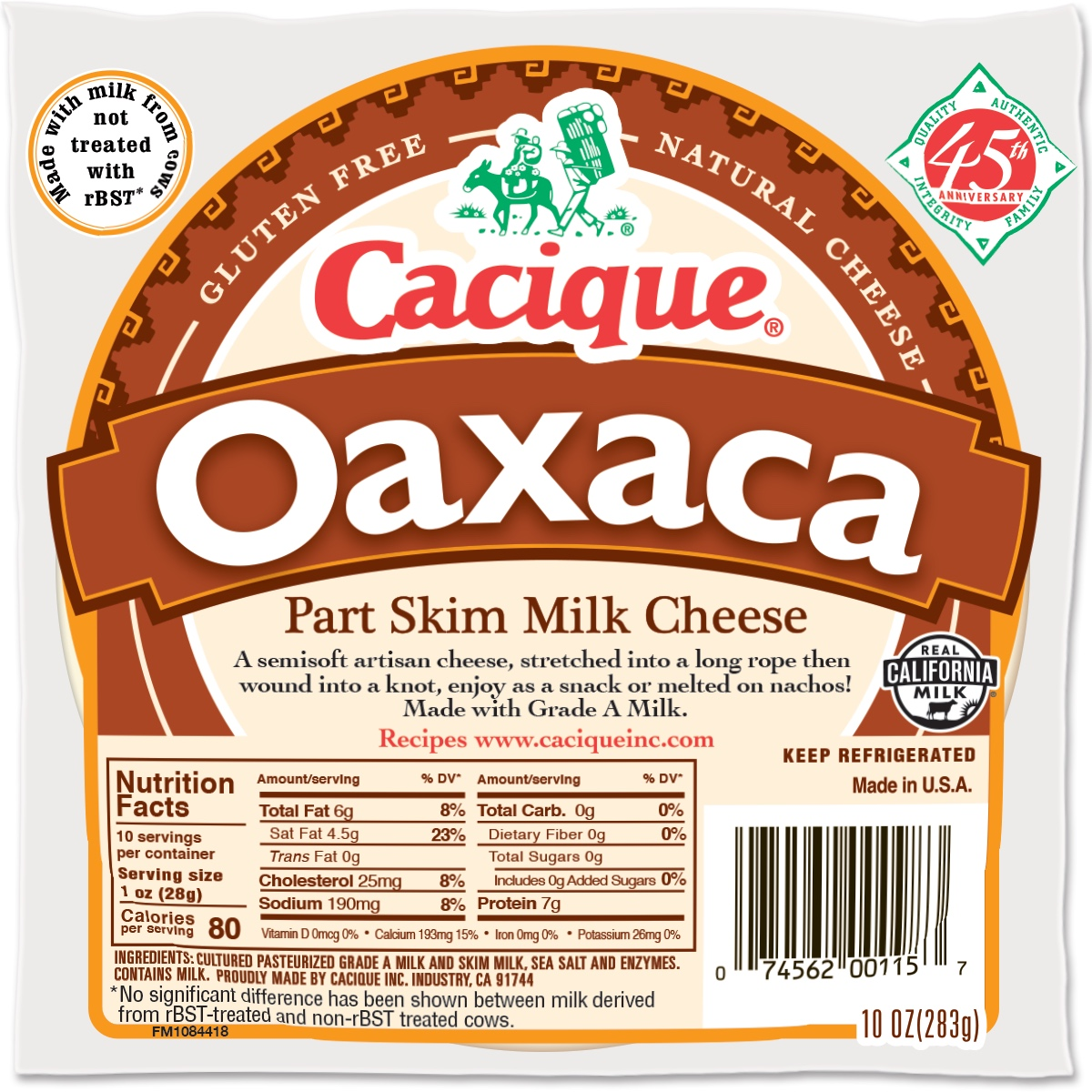 Cacique Oaxaca Cheese, 12 oz.