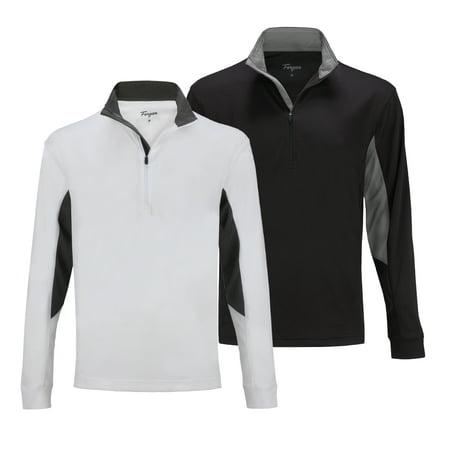 2 PACK Forgan of St Andrews Men's Golf Pullover 1/4 Zip Top ()