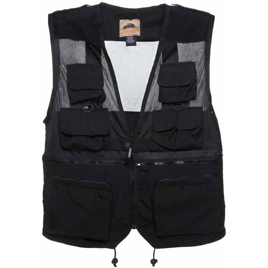 Combat Vest with 14 Pockets, Humvee, 100 Percent Nylon, Breathable Mesh, Available in Multiple Colors and Sizes