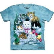 Kittens T-shirt The Mountain Blue Kids Unisex 100% Cotton Short Sleeve