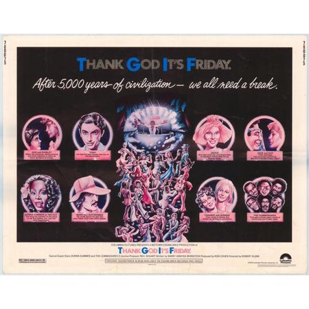 Thank God It's Friday POSTER Movie Half Sheet A (22x28) (It's Friday And Halloween)