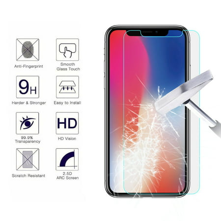 brand new 6f780 b09dc [1-Pack] iPhone Xs Max / iPhone XR / iPhone XS / iPhone X Screen Protector,  Njjex 9H HD Ultra Clear Anti-Bubble Scratch Proof Tempered Glass Screen ...