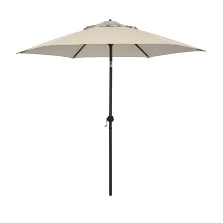 Astella 9' Steel Market Umbrella With Push Tilt in Polyester Antique Beige