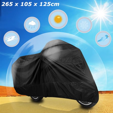 XXL 180T Black Motorcycle Cover For Harley Davidson Magna Shadow Spirit Sabre 600 750 1100 - image 7 of 8