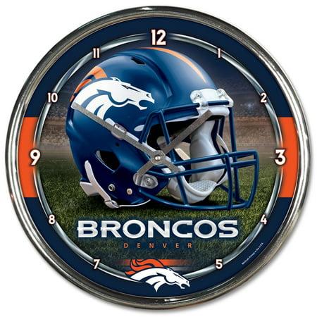 Denver Broncos WinCraft Chrome Wall Clock - No Size