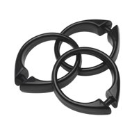 Product Image Black Set Of 12 Easy To Use Plastic Snap On Shower Curtain Rings Size