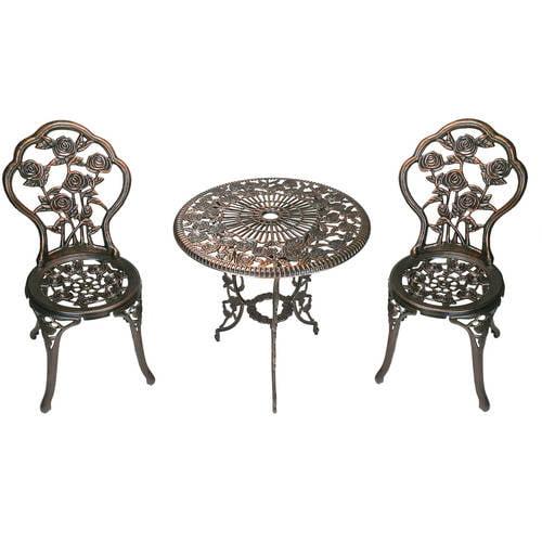 Patio Furniture Set 3 Piece Bistro Wrought Small Iron