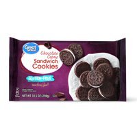Great Value Gluten-Free Chocolate Crème Sandwich Cookies, 10.5 oz
