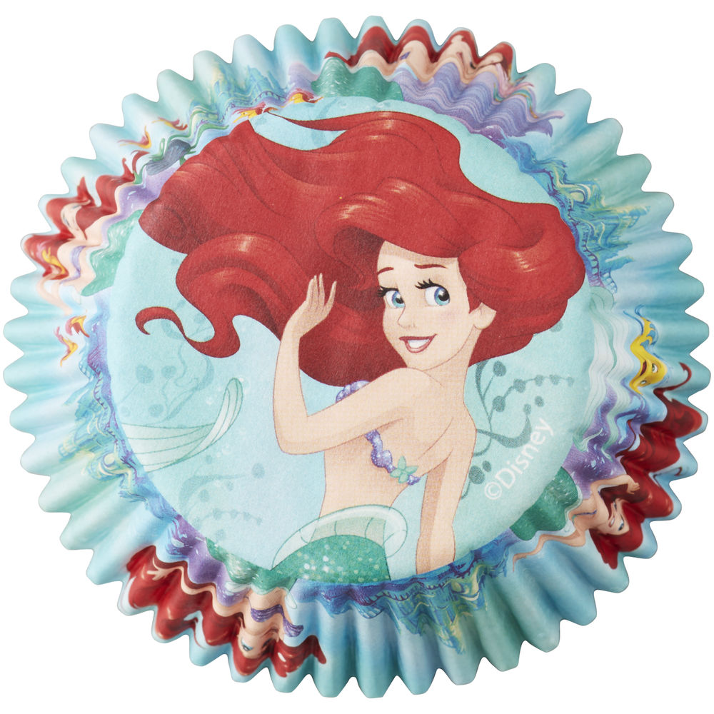 Ariel Disney Princess 50 Baking Cups Party Cupcakes Liners Little Mermaid