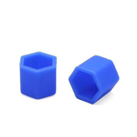 20pcs 17mm Blue Silicone Car Tyre Wheel Hub Screw Cap Dust Cover Protector - image 1 of 2