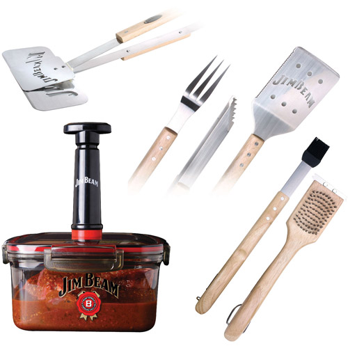 Jim Beam 7-Piece Barbeque Tool Set