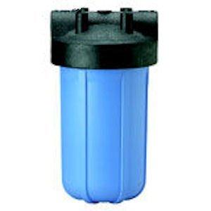 "Pentek 158006 10"" Slim Line Water Filter Housing 3/8 Blue Sump No PR"
