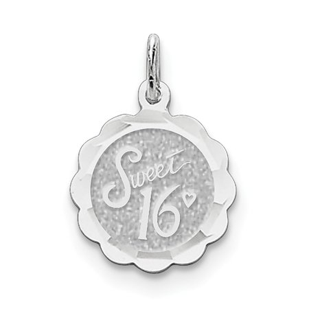 e67690a1dc87 ICE CARATS 925 Sterling Silver Sweet Sixteen Girl 16 Birthday Disc Pendant  Charm Necklace Special Day Fine Jewelry Ideal Gifts For Women Gift Set From  Heart