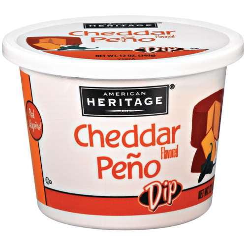 American Heritage: Cheddar Flavored Peno w/Real Jalapenos Dip, 12 Oz