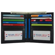 Texan Bull European Hipster Bifold Mens Wallet Large