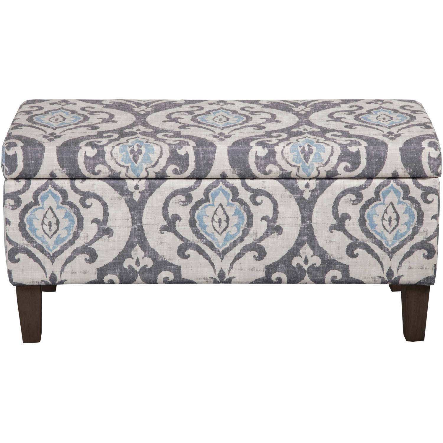 HomePop Drake Large Decorative Storage Bench, Multiple Colors