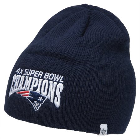New England Patriots   Four Time Super Bowl Champions Navy Beanie
