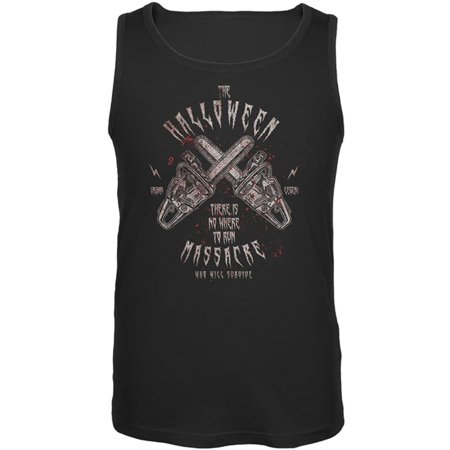 Halloween Chainsaw Massacre Bloody Horror Mens Tank Top](Halloween Horror Nights Chainsaws)