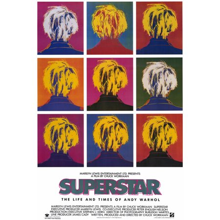 """Superstar, Life & Times of Andy Warhol - movie POSTER (Style A) (27"""" x 40"""") (1990)"""