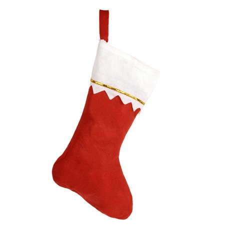 KABOER 1pcs Christmas Home Hotel Decorations Mall Tree Pendant Ornaments Red Plush Non Woven Socks Gift Bag ()