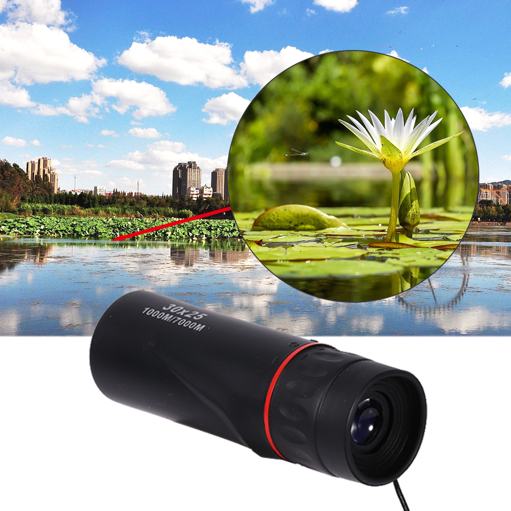 Waterproof Black 30 x 25 Optical Monocular Focus Telescope Zoomable 7X Outdoor Scope, Night Vision Monocular,HD Optical... by