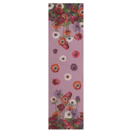 Anemones Pink French Table Runner - A - H 71 x W 19 - image 1 of 1