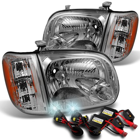 Fits 2005 2006 Toyota Tundra Double | Crew Cab Headlights Pair Set + 6000K
