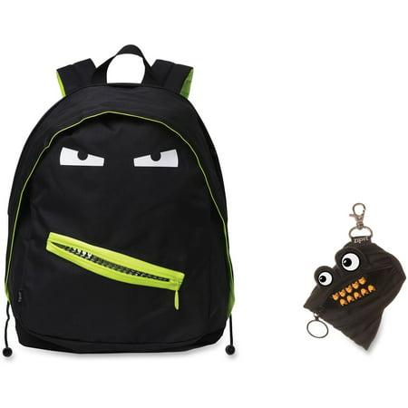 Zipit Grillz Carrying Case  Backpack  For Books  Binder  Clothing  Tablet  Snacks  Bottle  School   Black