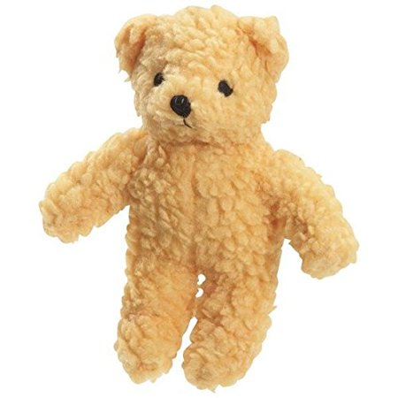 BERBER BEARS Soft Plush Dog Toys Durable Fleece Squeaker Toys for Dogs Cute Bear(Yellow)