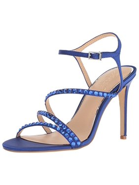 Jewel Badgley Mischka Women's MARIMBA Sandal, royal blue satin, M100 M US