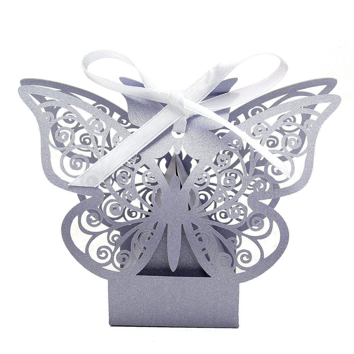 10Pcs Paper Butterfly Cut Candy Cake Boxes Wedding Party Gifts Favor ...