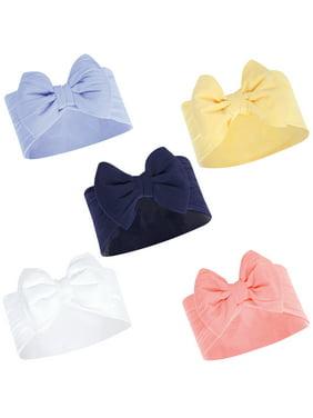 Hudson Baby Big Bow Headbands, 5-Pack