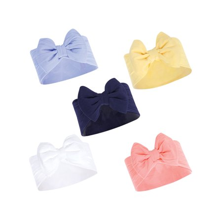 Big Bow Headbands 5Pk (Baby Girls)