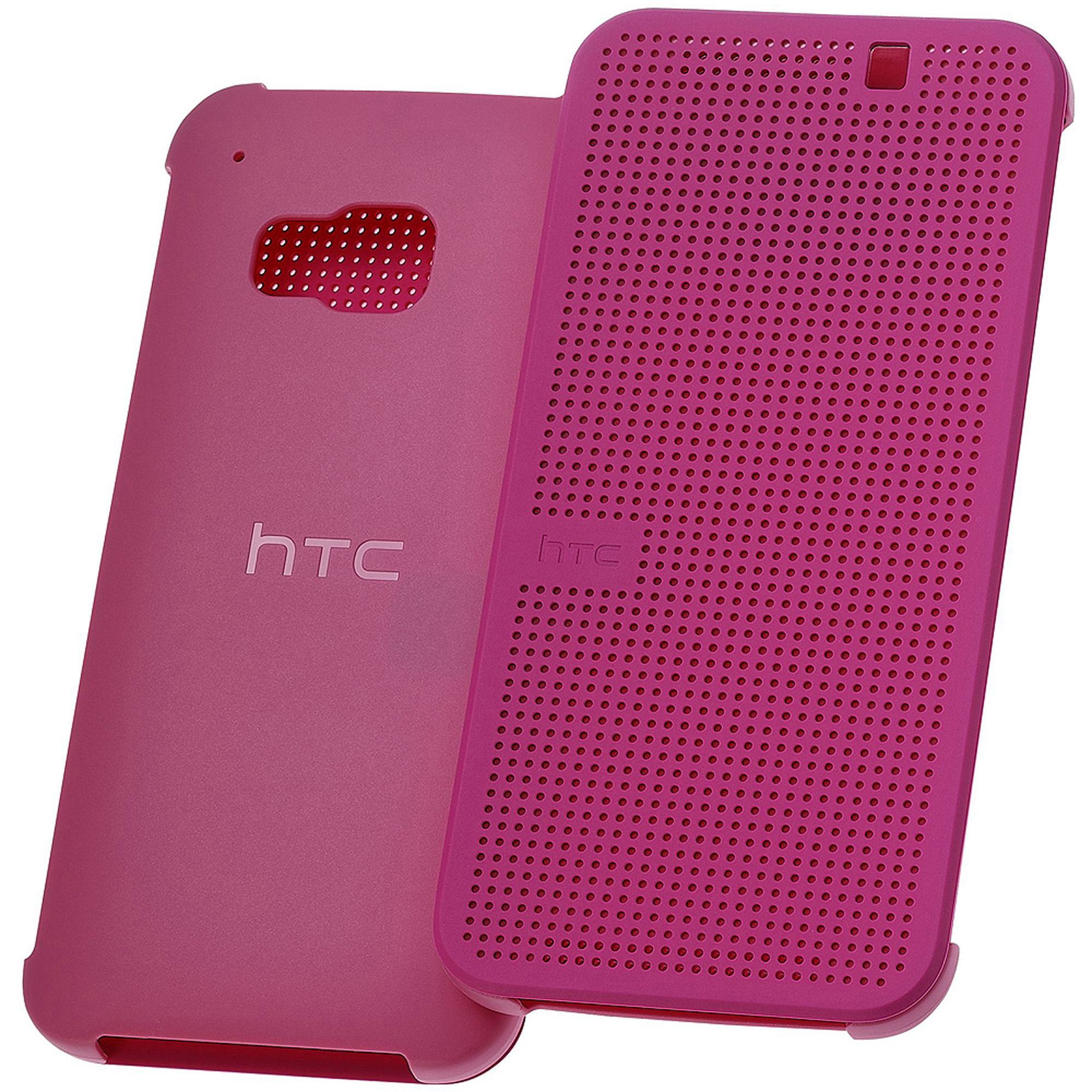 HTC Dot View Premium Case for HTC One (M9), Candy Floss