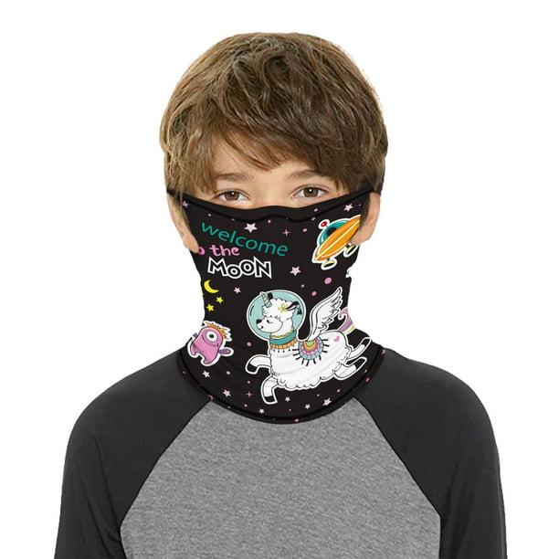 Kids Breathable Bandana Balaclava Neck Gaiter Tube Bandana-Scarf Face Mask Cover