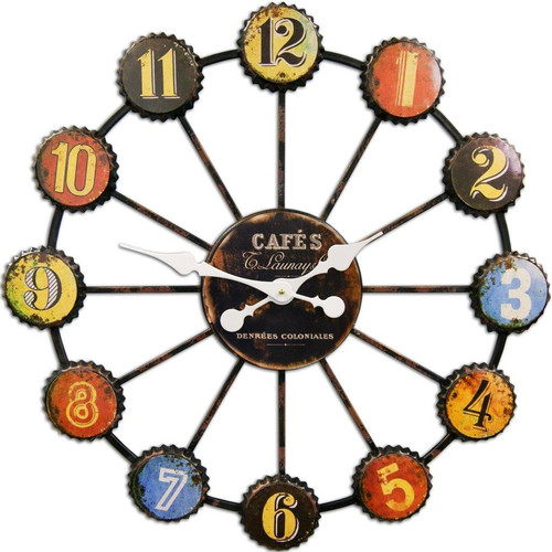 HDC International 28'' Bottle Caps Wall Clock