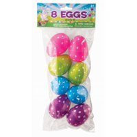 EASTER PLASTIC EGGS -DOT PRINT 12 PACK